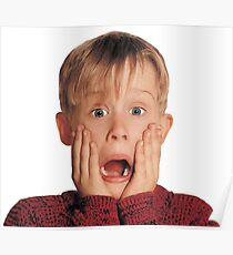 Home Alone Macaulay Culkin scream Poster