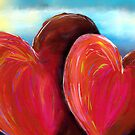 Two Hearts by the Sea by WayneYoungArts