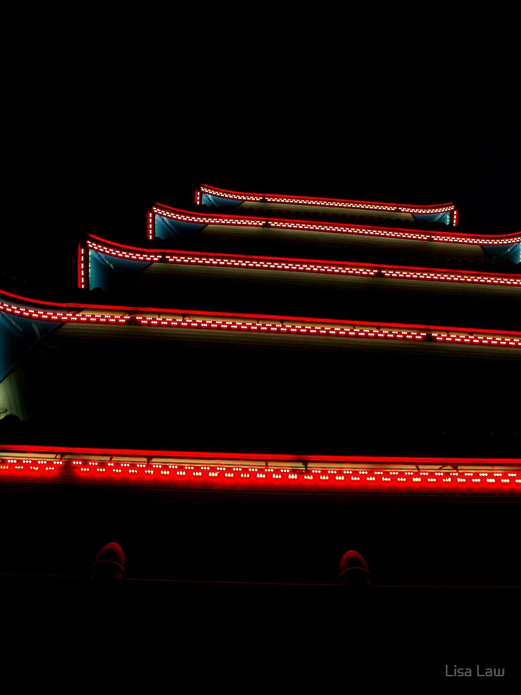 Night Lights at the Pagoda II by Lisa Brower