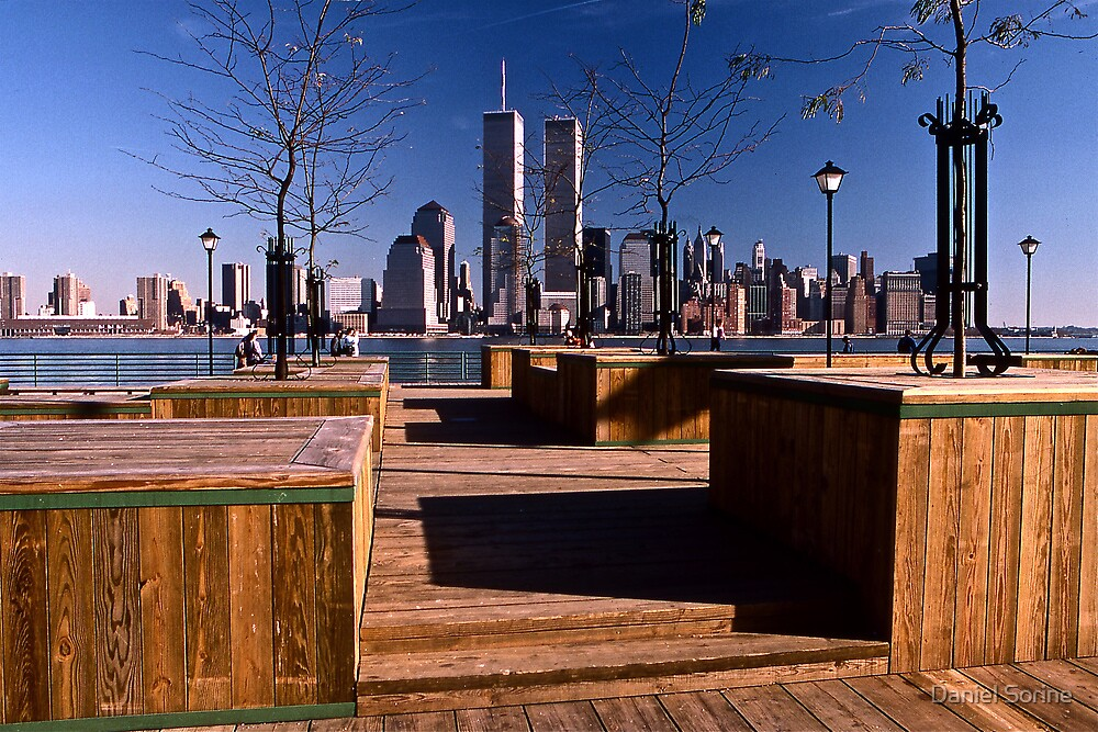 WORLD TRADE CENTER FROM JERSEY CITY. 1987 by Daniel Sorine