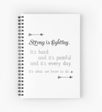Strong Is Fighting Spiral Notebook