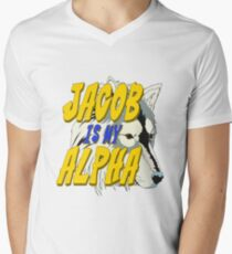 Jacob is my Alpha Twiliight Men's V-Neck T-Shirt
