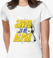 Jacob is my Alpha Twiliight Womens Fitted T-Shirt