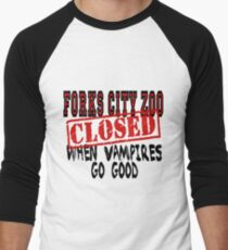 Forks City Zoo Closed Twilight Men's Baseball ¾ T-Shirt