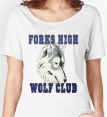 Forks High Wolf Club Twilight Werewolf Women's Relaxed Fit T-Shirt