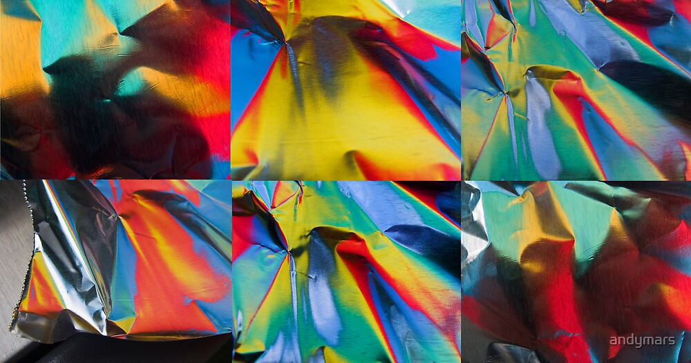 Abstract Aluminum Foil Reflection Collage by andymars