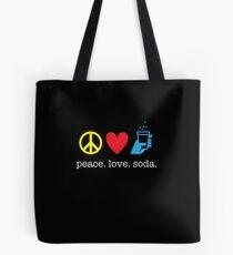 Peace Love Soda Tote Bag