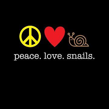 Peace Love Snails by kirei
