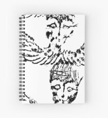 Black & White White Abstract Angels Spiral Notebook