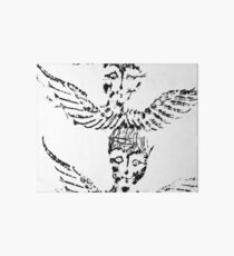 Black & White Abstract Angels Art Board