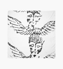 Black & White Abstract Angels Scarf