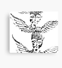 Black & White Abstract Angels Metal Print