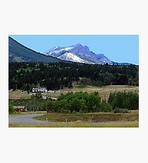 Crowsnest Pass and Mountain Photographic Print