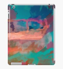 Abstract Laundry Boat in Blue, Green, Orange and Pink iPad Case/Skin