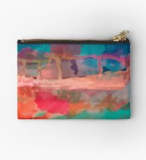 Abstract Laundry Boat in Blue, Green, Orange and Pink Studio Pouch