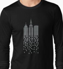 New York Cityscape Graphic Long Sleeve T-Shirt