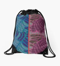 Blue and Purple Abstract Drawstring Bag
