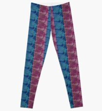 Blue and Purple Abstract Leggings