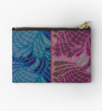 Blue and Purple Abstract Studio Pouch