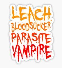 Leach Bloodsucker Parasite Vampire Twilight Sticker