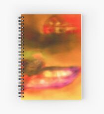 Row Boat in Yellow, Pink and Purple Spiral Notebook