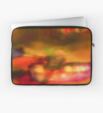 Row Boat in Yellow, Pink and Purple Laptop Sleeve