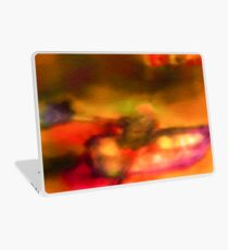 Row Boat in Yellow, Pink and Purple Laptop Skin