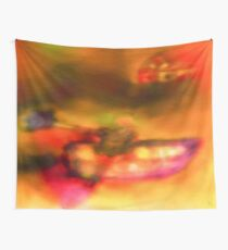 Row Boat in Yellow, Pink and Purple Wall Tapestry