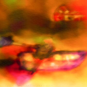 Row Boat in Yellow, Pink and Purple by ntartworks