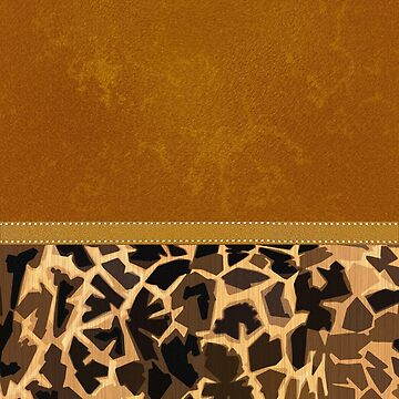 Graphic Giraffe Print and Digital Brown Leather by jocelynsart