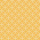 Mid Century Modern circles - yellow by Gale Switzer