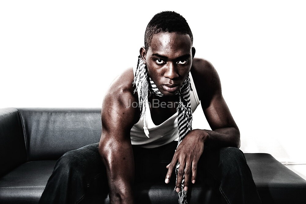 Christian Nsame in the studio by JohnBeara