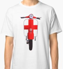 Classic Scooter with St George Cross Art Classic T-Shirt