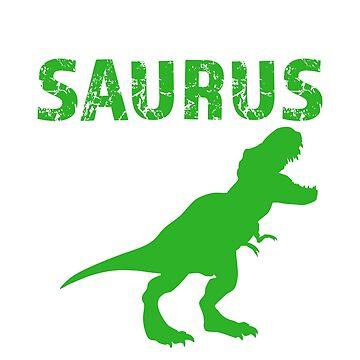 Daddy Saurus Rex Shirt Funny Dad Dinosaur T-shirt by worksaheart