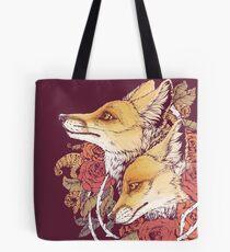 Red Fox Bloom Tote Bag
