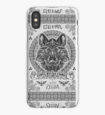 Legend of Zelda Twilight Princess Wolf Link Line Artly  iPhone Case/Skin