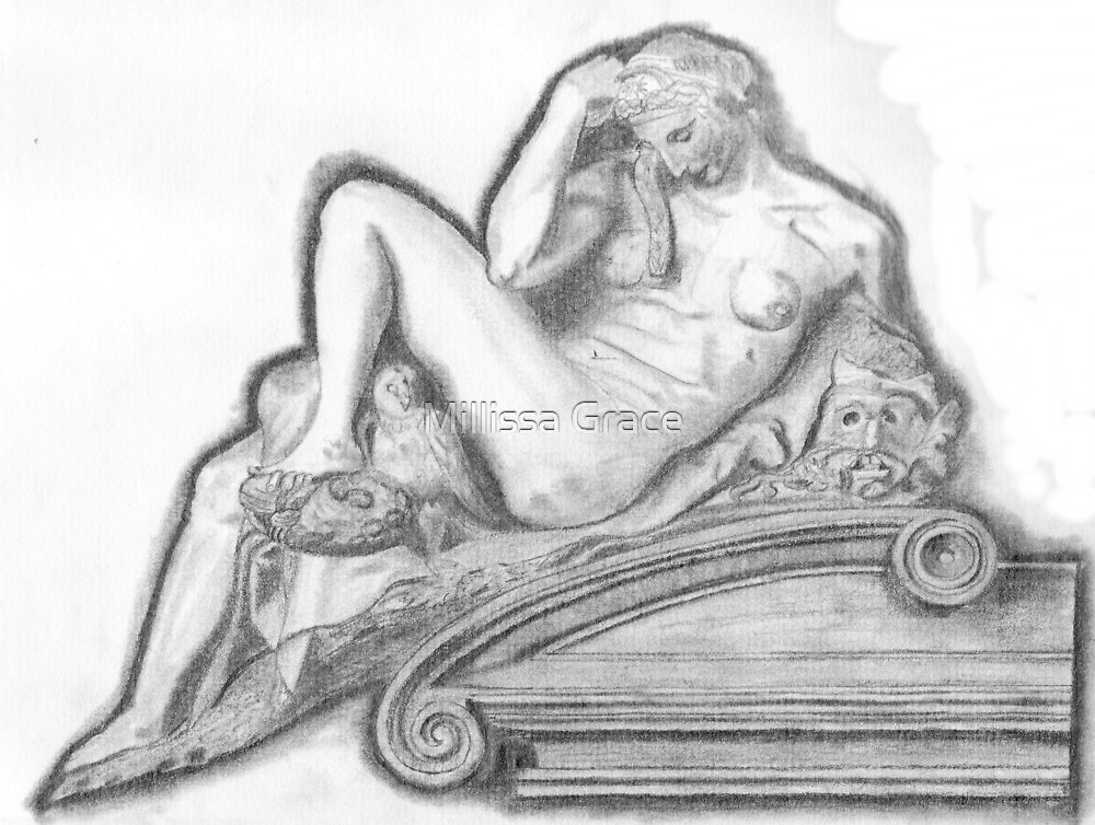 Sketch of Michelangelo's 'Night' Sculpture by Millissa Grace