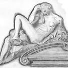 Sketch of Michelangelo's 'Night' Sculpture by lissygrace