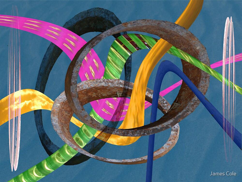 Triple Weave in Blue by James Cole