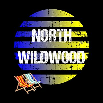 NORTH WILDWOOD Vintage Jersey Shore Beach Souvenir Gift by Katnovations