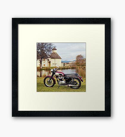 1969 Triumph Bonneville Framed Print