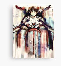 Shinji Evangelion Anime Tra Digital Painting  Canvas Print