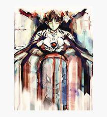 Shinji Evangelion Anime Tra Digital Painting  Photographic Print