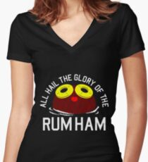 rum ham Women's Fitted V-Neck T-Shirt
