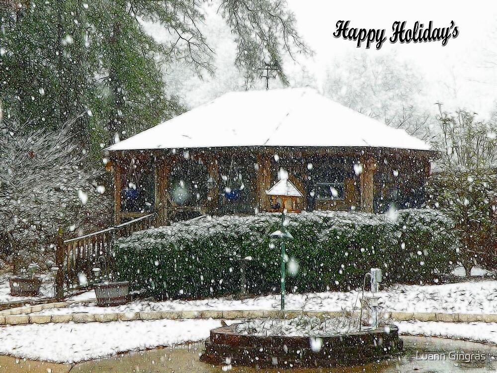 Snow In Georgia 1 by Luann Gingras