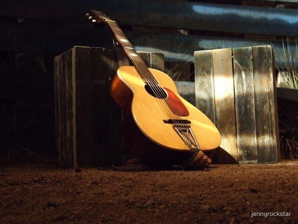 lone guitar by jennyrockstar