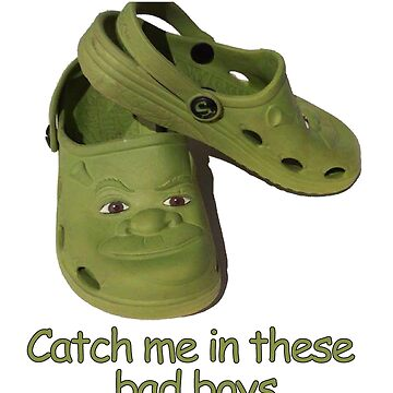 Catch me in these fresh shrek crocs by apollosale