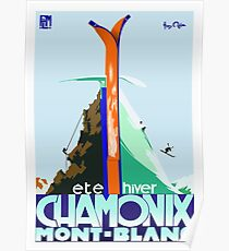 Weinlese-Reise-Plakat Frankreich - Chamonix - Mont Blanc Poster