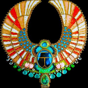 Jeweled Egyptian Scarab Art by Skyviper