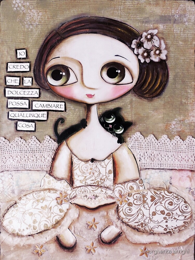 Marie Antoinette big eyes and the cat by margherita arrighi